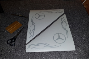 Mercedes window sticker
